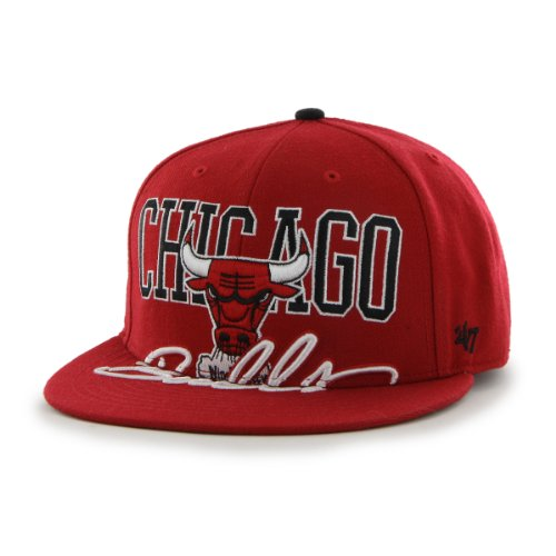 NBA Chicago Bulls Big Spread Snapback Adjustable Cap, One Size, Red at Amazon.com
