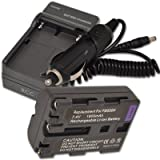 NEW Battery + Charger for Sony Alpha NP-FM500H DSLR A200 A350 FM500H + car plug