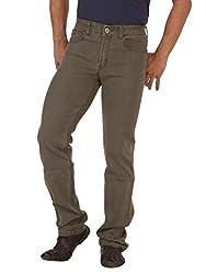 RACE-Q Brown Basic Jeans for Men
