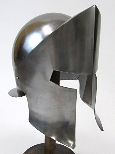 Helmet Inspired by The Movie (300) W/ Chrome Finish Wearable Costume