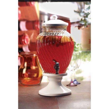 Circleware Obsession Glass Beverage Dispenser Ceramic Base and Lid (Ceramic Drink Dispenser compare prices)