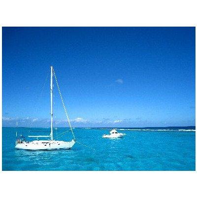 ポストカード「カリブ海ケイマン諸島(英領)スティングレイ・シティの海とヨット」photo by Tabikabe.jp -えはがき絵葉書postcard-