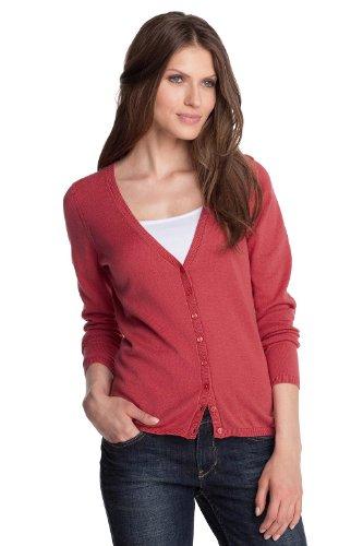 Esprit V-Neck Women's Cardigan Market Red Medium