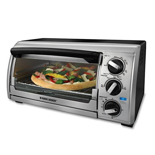 Black & Decker TRO480BS 4-Slice Toaster Oven, Black/Silver (Toast R Oven Black And Decker compare prices)
