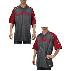 MLB St. Louis Cardinals Mens Baseball Athletic V-Neck Short Sleeve T Shirt by MLB