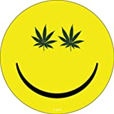 WEED Pot Smile Rub-On Marijuana STICKER Officially Licensed Marijuana Weed Pot / Pop Culture Artwork, 3.75