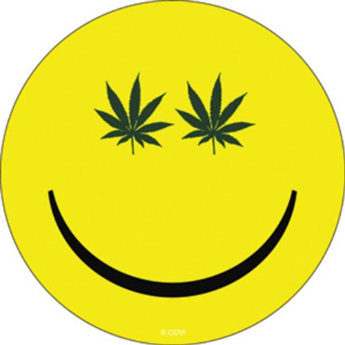Licenses Products Weed Indeed Pot Smiley Sticker