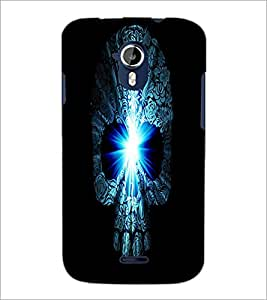 PrintDhaba Skull D-4380 Back Case Cover for MICROMAX A116 CANVAS HD (Multi-Coloured)