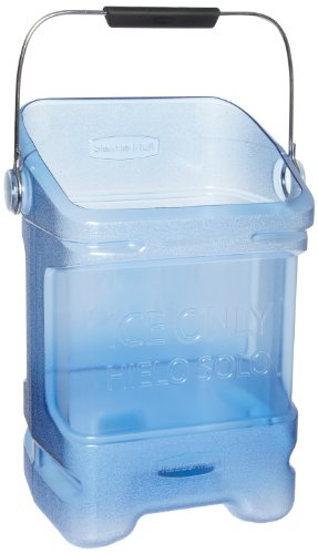 Rubbermaid Commercial Fg9F5300Tblue 5.5-Gallon Safe Ice Tote, Legend, Ice Only, Hielo Solo, Rectangular, Transparent Blue