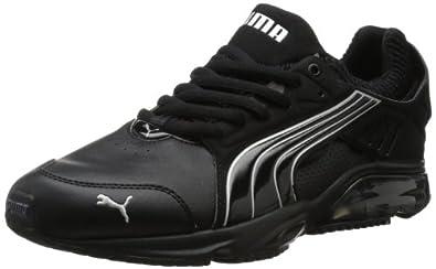 PUMA Men's Power Tech Blaze SL Running Shoe,Black/Black,8.5 D US