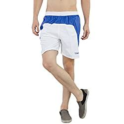 BURDY Solid Men's White Running Shorts
