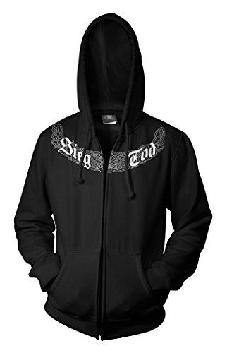Wotan Textil -  Felpa con cappuccio  - Uomo nero XXXXXL