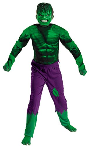 Boys Hulk Classic Kids Child Fancy Dress Party Halloween Costume