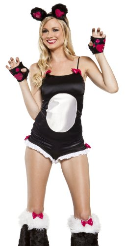 Lip Service Sexy Panda Outfit Adult Animal Halloween Costume XS