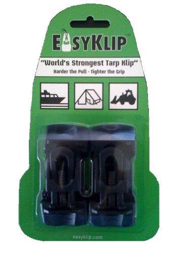 EasyKlip Midi 4101 220lbs Tarp Clip, Black, 4-Count picture