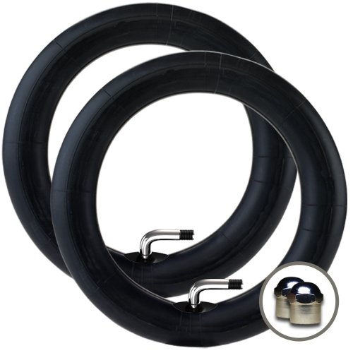 """2 X Phil & Teds Dot Stroller/Pushchair Inner Tubes To Fit Model - 10"""" / 10 1/2"""" - 90º Bent/Angled Auto Valve + Free Shipping + Free Upgraded Skyscape Metal Valve Caps (Worth $4.99)"""