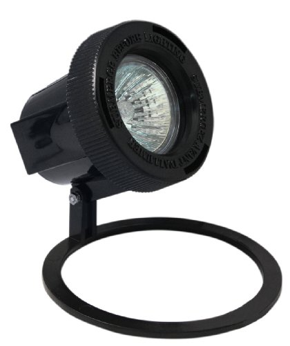 Paradise GL22609BK Low Voltage Plastic 20-Watt Submersible Pond Light, Black