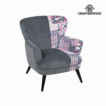 Sedia a sdraio con braccioli patchwork by Craften Wood (1000026874)