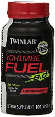 Twinlab Twl Yohimbe Fuel Diet Supplement Capsules, 100 Count (Pack of 3)
