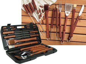 Sci/Scandicrafts, Inc. 18-Pc. Barbecue Set In Carrying Case, Black.