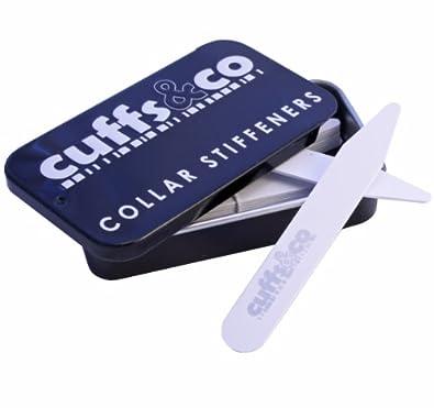 Cuffs & Co Plastik-Kragenstäbchen, 9 Paar, Weiß