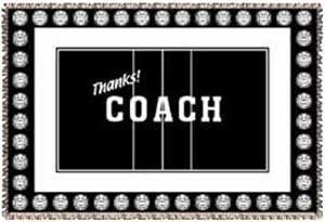 Thanks Coach Volleyball Afghan Blanket