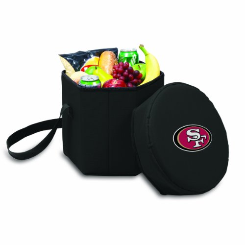 Nfl San Francisco 49Ers Bongo Insulated Collapsible Cooler, Black front-601968