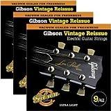 Gibson Vintage Reissue 3-Pack VR9 Electric Guitar Strings