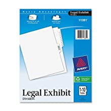 Avery Premium Collated Legal Dividers, Letter Size, 1-10 and Table of Contents, 1 Set (11381)