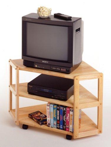 Image of Solid Wood Corner TV Stand & Shelf (B0015ZGG52)