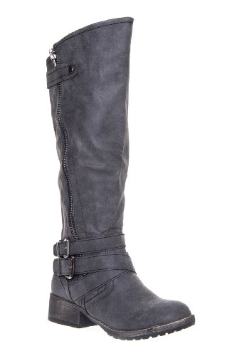 Madden Girl Master Tall Low Heel Boot