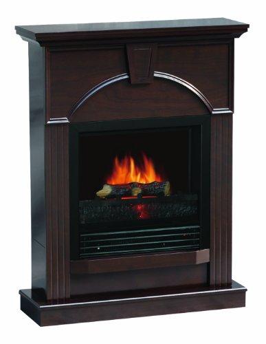 Sylvania Sbm850P-26F Electric Fireplace Heater 1250-Watt With Classically Styled 26-Inch Mantle, Dark Chocolate