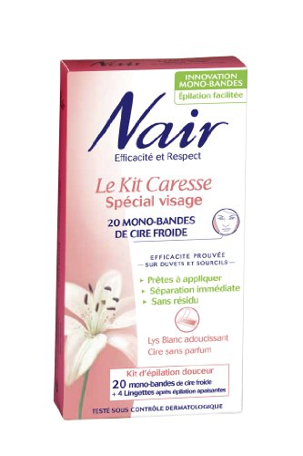 nair-501917-epilation-kit-caresse-special-visage-20-mono-bandes-lot-de-2