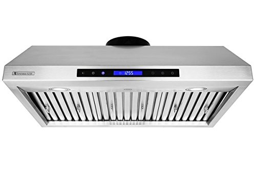 XtremeAir PX12-U30 Under Cabinet Mount Range Hood with 900 CFM Baffle Filter/Grease Drain Tunnel, 30