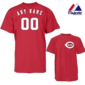 Cincinnati Reds Personalized Custom (Add Any Name & Number) 100% Cotton T-Shirt... by Authentic Sports Shop