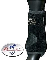 Professionals Choice Equine Sports Medicine Ventech Elite Rear Leg Boot, Pair (Medium, Black)