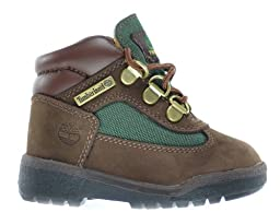 Timberland Baby Toddlers Field Boots Brown/Olive Green 16837 (7.5 M US)