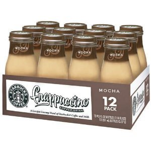 Starbucks Coffee Frappuccino Coffee Drink Mocha, 9.5 Ounce Bottles-(pack of 12)