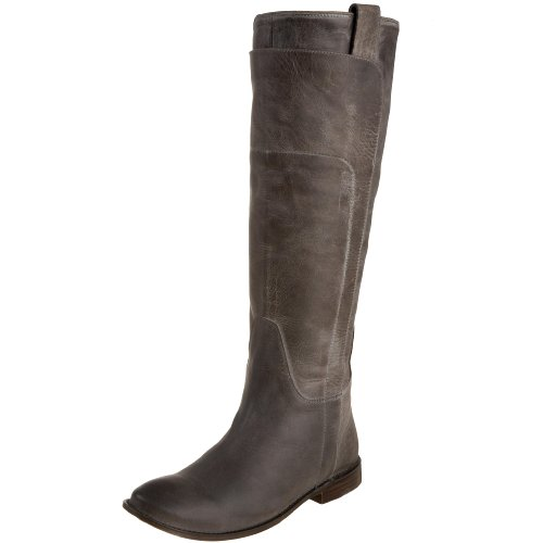 FRYE Women's Paige Tall Riding Boot, Grey Burnished Leather, 8.5 M US
