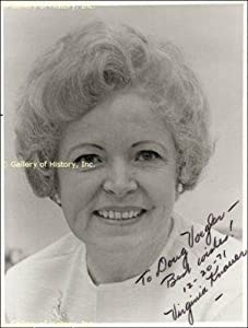 Virginia Knauer - Inscribed Photograph Signed - Autographed College Photos by Sports+Memorabilia