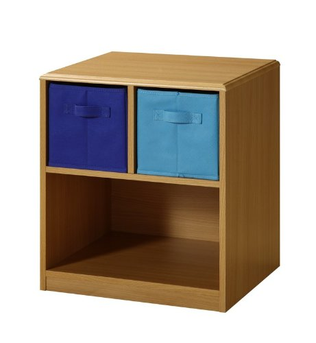 Kids Nightstand with Baskets (Beech / Blue) (21.5″H x 19″W x 15.75″D) (B005ZJCF6S)