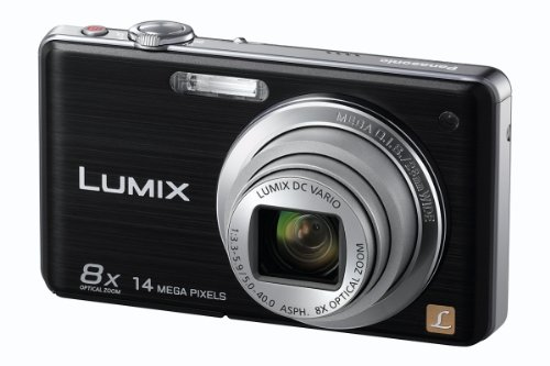 Panasonic Lumix FS33 Digital Camera - Black (14.1MP, 8x Optical Zoom) 3 inch Touchscreen LCD