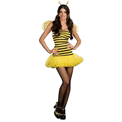 Dreamgirl 7541 Sexy Queen Bee Costume (Yellow, Large)