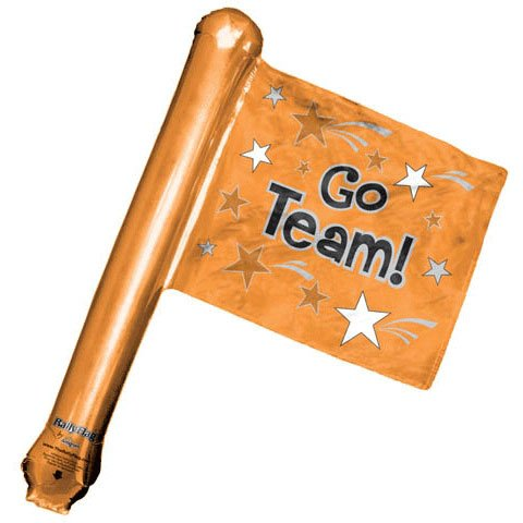 Go Team Orange Rally Flag Shape