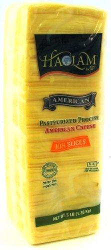 Haolam - Cholov Yisroel Yellow American Cheese (3lbs. sliced) - 2 Pack