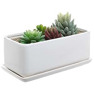 10 Inch Rectangular Modern Minimalist White