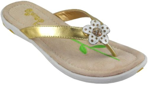 ec20af892ee01 Cute and comfortable sandals decorated with white enamel flower. Flexible  sole