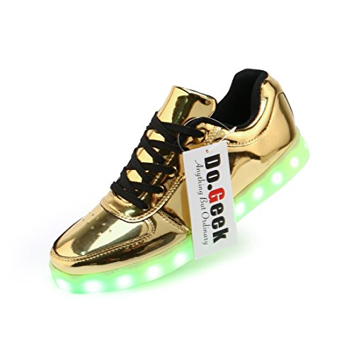 DoGeek-Unisex-7-Colors-USB-Carga-LED-Zapatos-Luz-Luminosas-Flash-Zapatillas-de-Deporte-Para-Hombres-Mujeres-Blanco