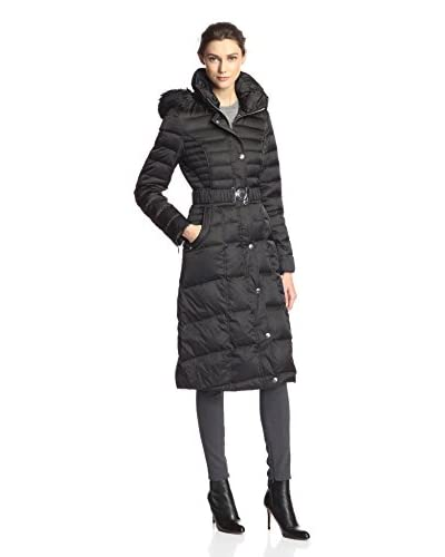 Laundry by Shelli Segal Women's Down Coat with Faux Fur