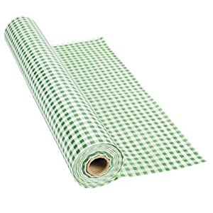 100' X 40 Green Gingham Tablecloth Roll - Party Tableware & Table Covers by FX